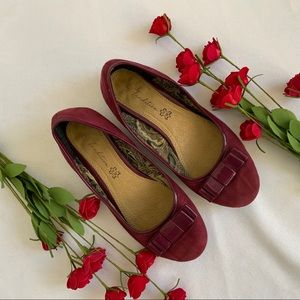 TRADITION Textile Uppers Wine Coloured Flats - 7